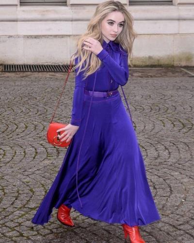 Sabrina-Carpenter-Hot-in-Blue-Dress